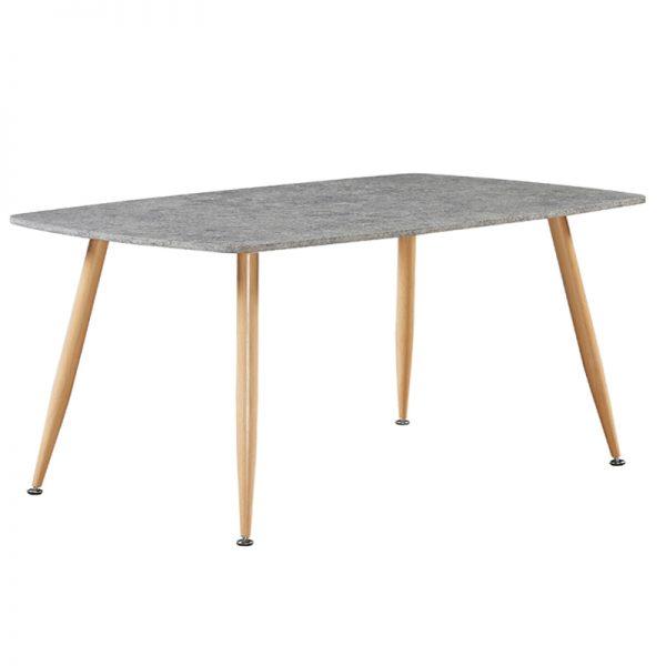 DARCI COFFEE TABLE 118x50x50Υcm CEMENT ΕΠΙΦΑΝΕΙΑ/ΦΥΣΙΚΑ ΜΕΤΑΛΛΙΚΑ ΠΟΔΙΑ