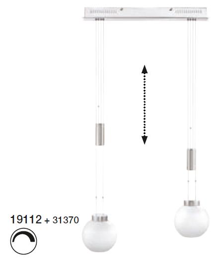 Shade Όπαλ Brushed Φ18 για τη σειρά m6 - Medium1 LED