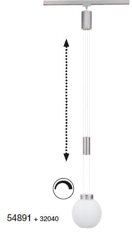 Shade Όπαλ ματ Φ18 για τη σειρά m6 - Medium1 LED