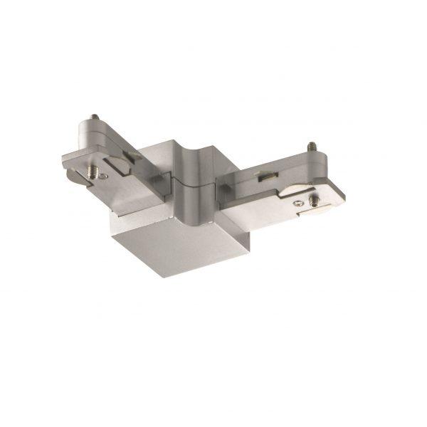 Connector Ράγας 1 x 500 W Ασημί ματ m6 - HV-TRACK 6
