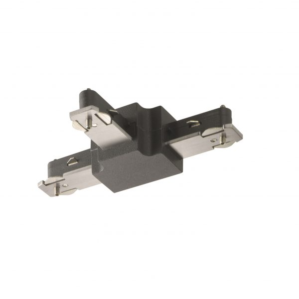 Connector Ράγας 1 x 500 W Μαύρο ματ m6 - HV-TRACK 6