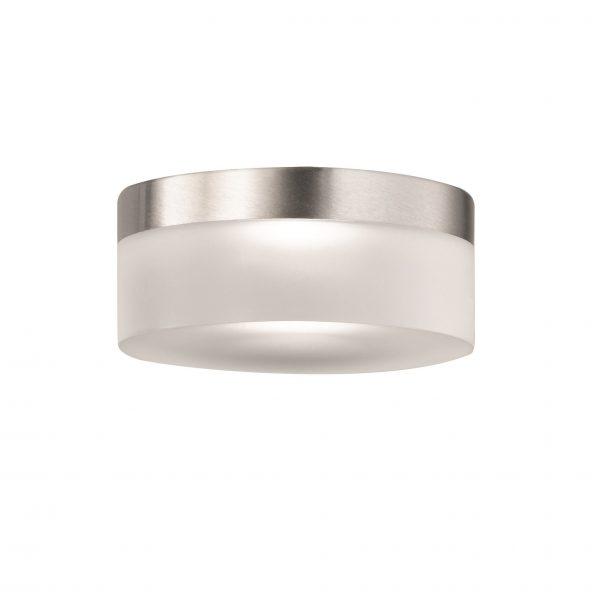 Shade Γυάλινο Φ9 Σατινέ με Νίκελ ματ m6 – LED 8