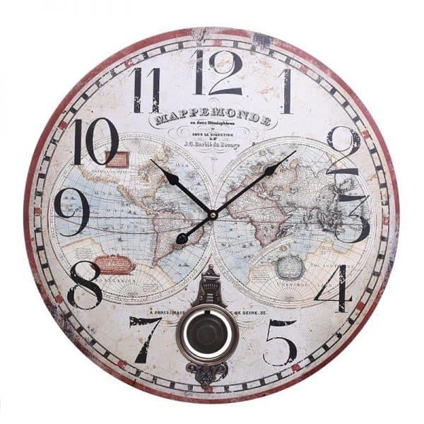 Inart Ρολόι Τοίχου   MDF 58x4x58 cm