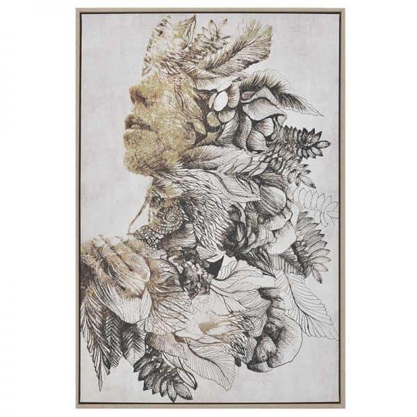 Inart Πίνακας Printed Καμβάς Multi  MDF Καμβάς 60x4x90 cm
