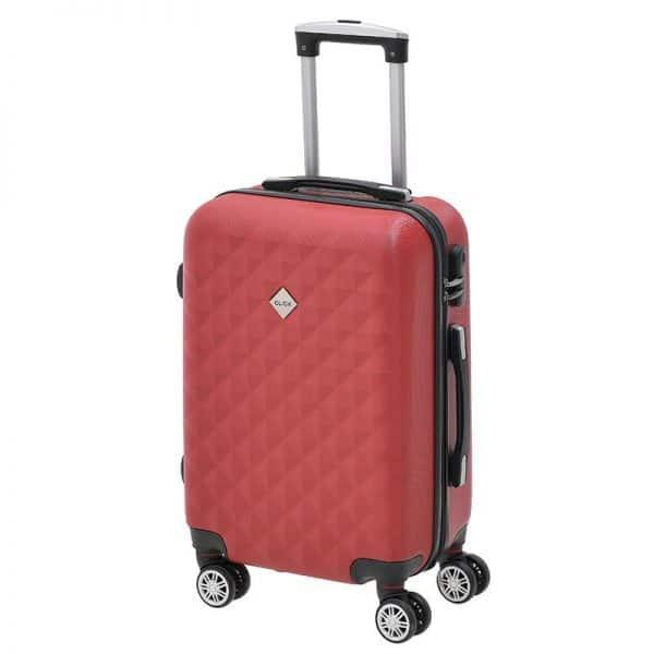 Inart Βαλίτσα Ταξιδιού Κόκκινο Σίδερο  Συνθετικό / ΠΟΛΥΕΣΤΕΡ Πλαστικό 38x23x57 cm