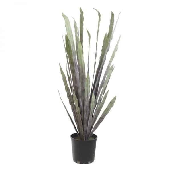 Inart Φυτό Σε Γλάστρα Μαύρο,Πράσινο Σίδερο  Plastic resin foam Χαρτί,Κεραμικό