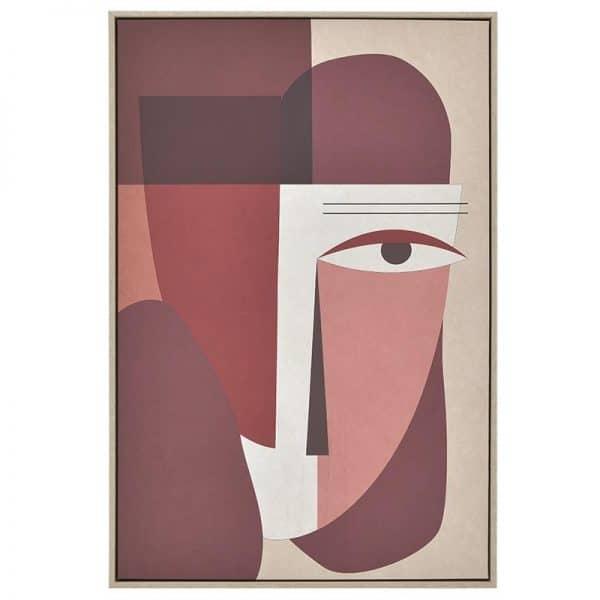 Inart Πίνακας Printed Καμβάς Multi  MDF Καμβάς 60x3x90 cm