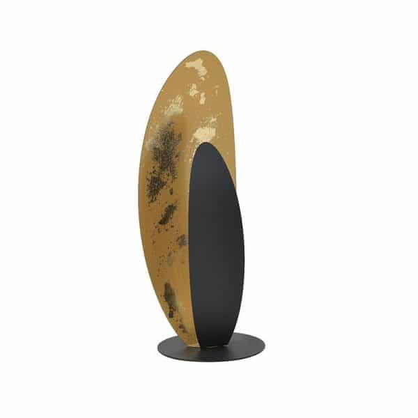 Inart Επιτραπέζιο Φωτιστικό Χρυσό,Μαύρο Σίδερο 15x15x41 cm