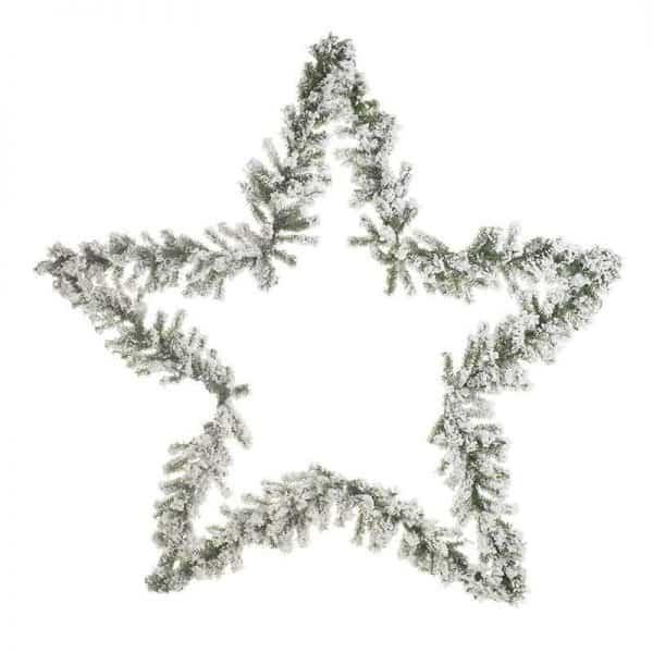 Inart Γιρλάντα/Αστέρι Πράσινο,Λευκό-Ελεφαντόδοντο    Πλαστικό 100x10x100 cm
