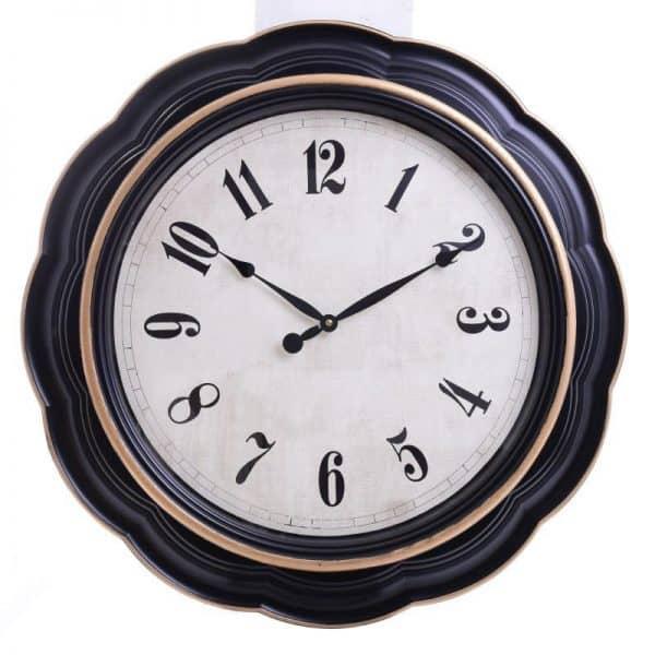 Inart Ρολόι Ροίχου Ασπρόμαύρο    Πλαστικό 76x6x76 cm