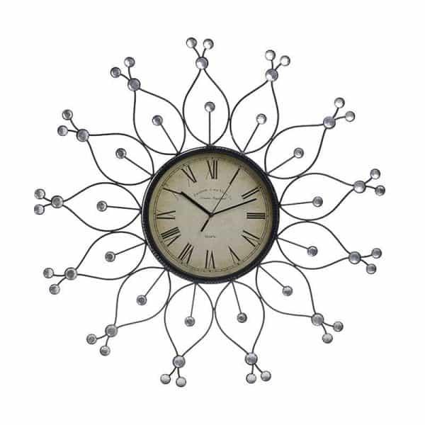 Inart Ρολόι Τοίχου     Γυαλί 60x1x60 cm