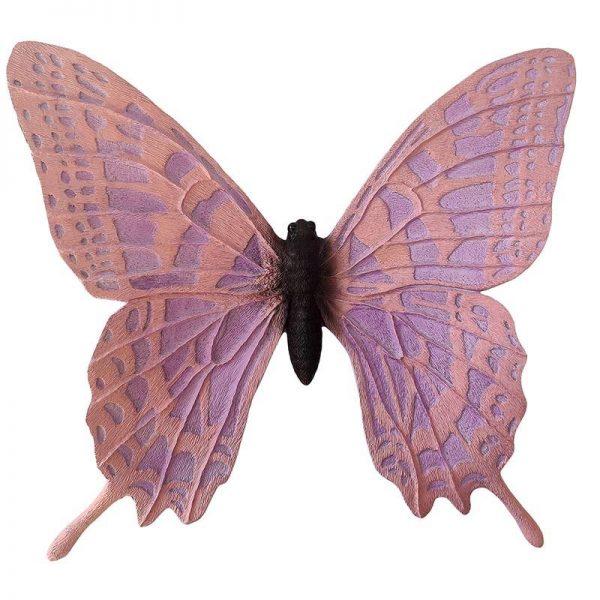 Inart Διακοσμητική Πεταλούδα Ροζ-Μωβ    Πολυρεσίνη 42x12x39 cm
