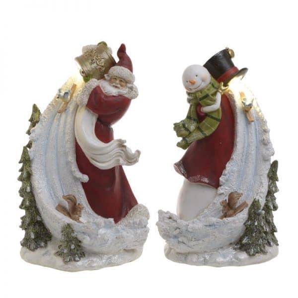 Inart Χριστουγεννιάτικο Διακοσμητικό     Πολυρεσίνη 21x17x34 cm