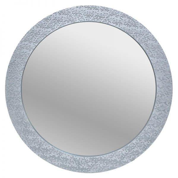 Inart Καθρέπτης Τοίχου Ασήμι    Γυαλί,Πλαστικό 80x3x80 cm