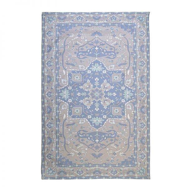 Inart Χαλί 160X230 Μπλε,Γκρί   Βισκόζη