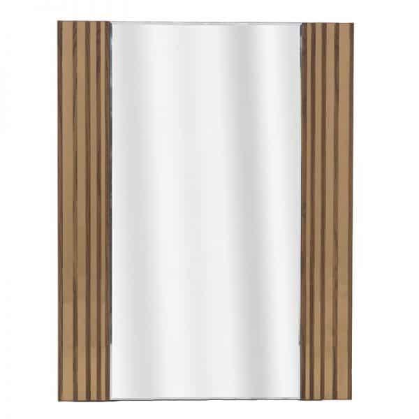 Inart Καθρέπτης Τοίχου Φυσικό μπεζ  Fir  Γυαλί 70x2x90 cm