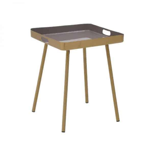 Inart Τραπέζι Καφέ,Χρυσό Σίδερο 41x41x50 cm