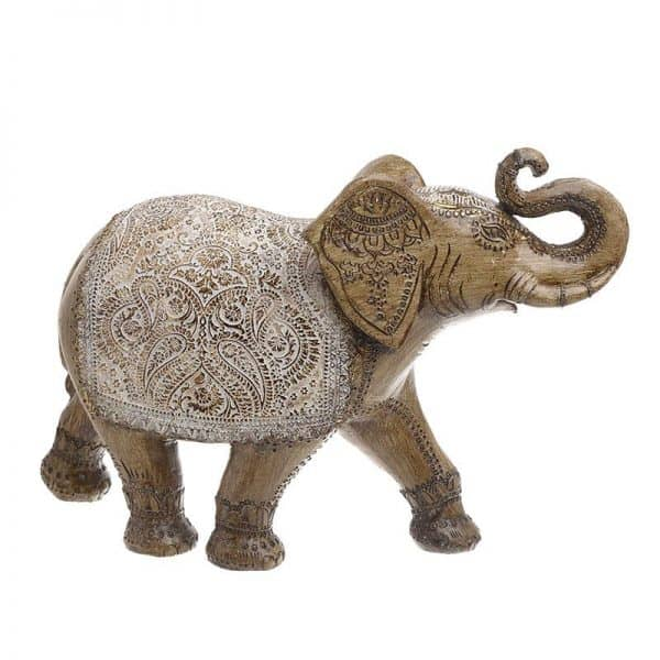 Inart Διακοσμητικός Ελέφαντας Χρυσό    Πολυρεσίνη 37x13x27 cm
