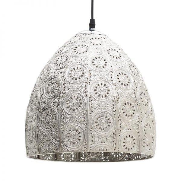 Inart Φωτιστικό Οροφής Ασήμι Σίδερο 30x30x30 cm