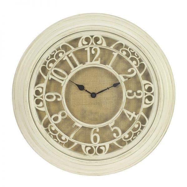 Inart Ρολόι Τοίχου  Φυσικό μπεζ    Πλαστικό 51x6x51 cm