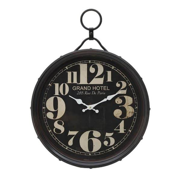 Inart Ρολόι Τοίχου   Σίδερο 40x6x54.5 cm