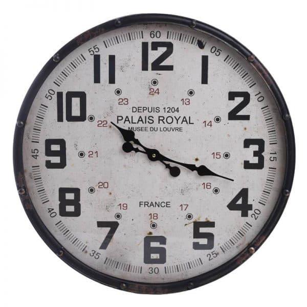 Inart Ρολόι Τοίχου Ασπρόμαύρο Σίδερο 61x2x61 cm