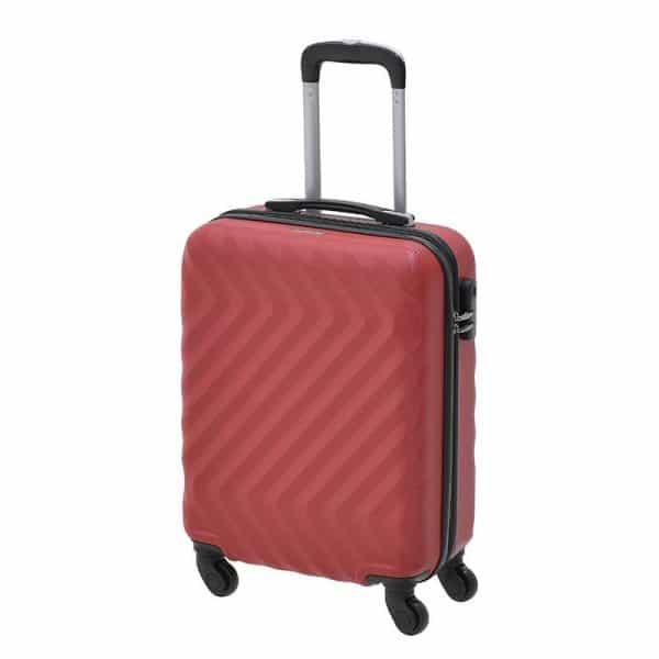 Inart Βαλίτσα Ταξιδιού Κόκκινο Σίδερο  Συνθετικό / ΠΟΛΥΕΣΤΕΡ Πλαστικό 40x20x55 cm