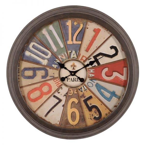 Inart Ρολόι Τοίχου Multi 70x6x70 cm
