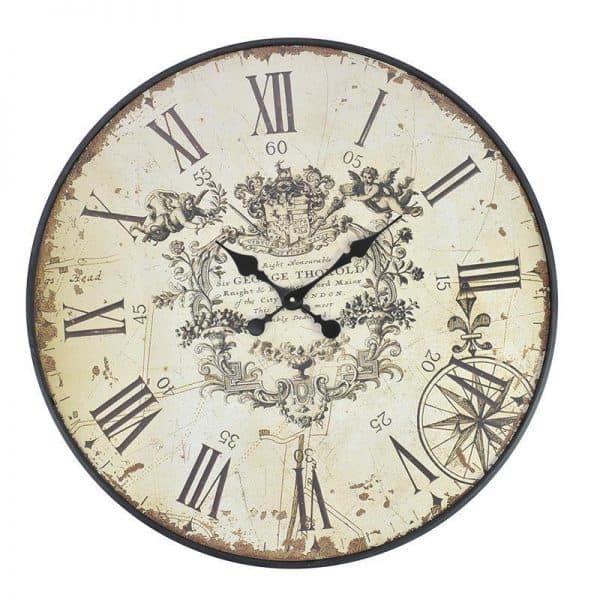 Inart Ρολόι Τοίχου   MDF 80x4x80 cm