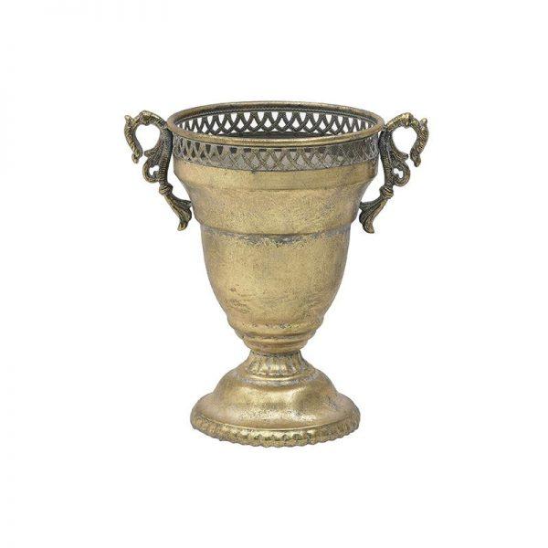 Inart Αμφορέας Χρυσό Σίδερο 25x25x36 cm