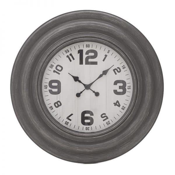 Inart Ρολόι Τοίχου Γκρί    Πλαστικό 76x5x76 cm