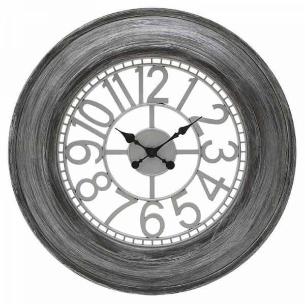 Inart Ρολόι Τοίχου Ασήμι    Πλαστικό 65x5x65 cm