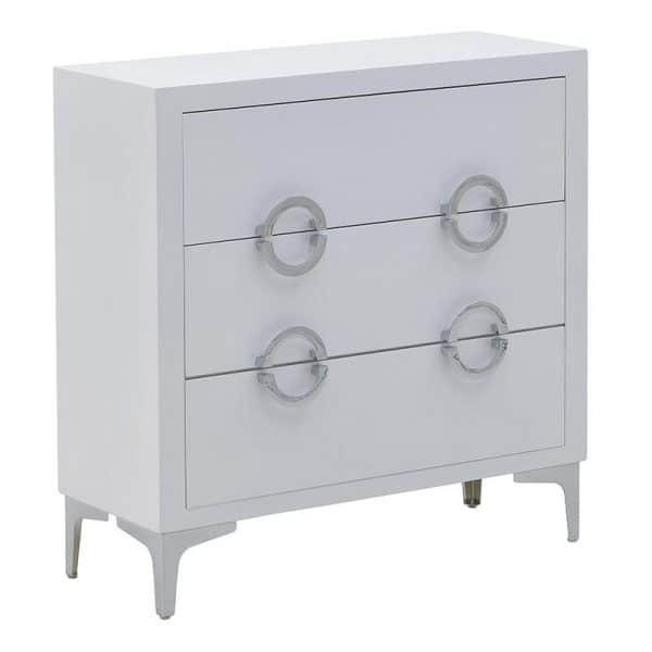 Inart  Ασήμι,Λευκό-Ελεφαντόδοντο Σίδερο Fir 78x30x78 cm