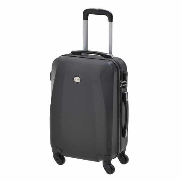 Inart Βαλίτσα Ταξιδιού Μαύρο Σίδερο  Συνθετικό / ΠΟΛΥΕΣΤΕΡ Πλαστικό 37x23x55 cm