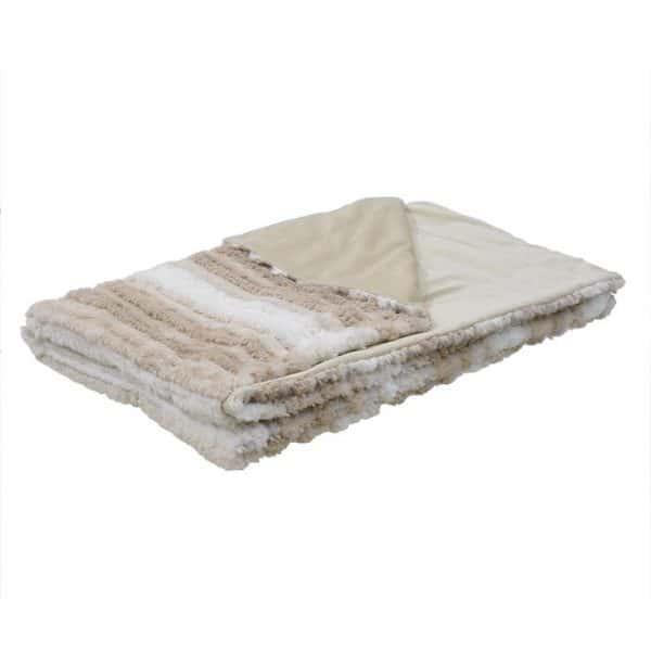 Inart Ριχτάρι 150Χ180 Λευκό-Ελεφαντόδοντο,Καφέ   Συνθετικό / ΠΟΛΥΕΣΤΕΡ 150x180x180 cm