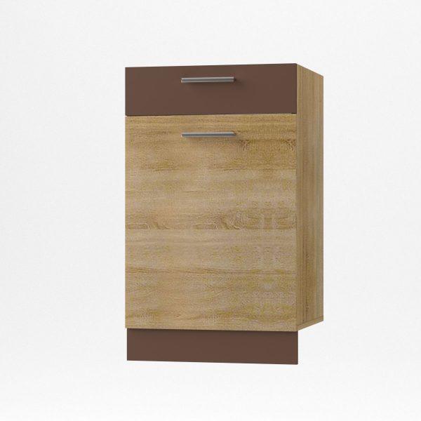 Alina Κάτω ντουλάπι με Συρτάρι 50x44,5x85εκ Σονόμα-Μόκκα SO-AD50