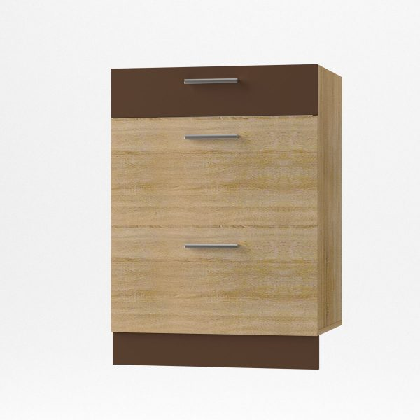 Alina  Συρταριέρα Κάτω 60x44,5x85εκ Σονόμα-Μόκκα SO-AD603S