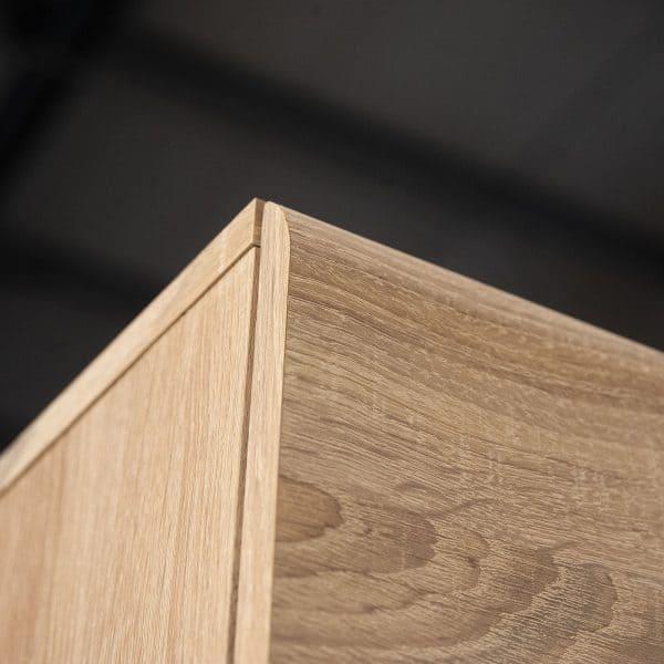 Κρεμαστή Βιτρίνα Δίφυλλη Solo δεξιά 2W 90x41x136cm Sonoma Wenge