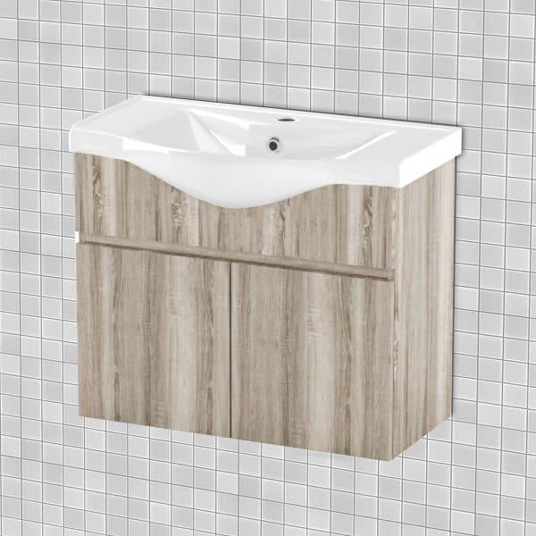 Κρεμαστό Έπιπλο Μπάνιου Με Νιπτήρα Odelia 75*45*62cm