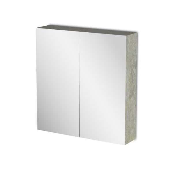 Κρεμαστός Καθρέπτης Μπάνιου Arlene με 2 ντουλάπια 62*14*65cm
