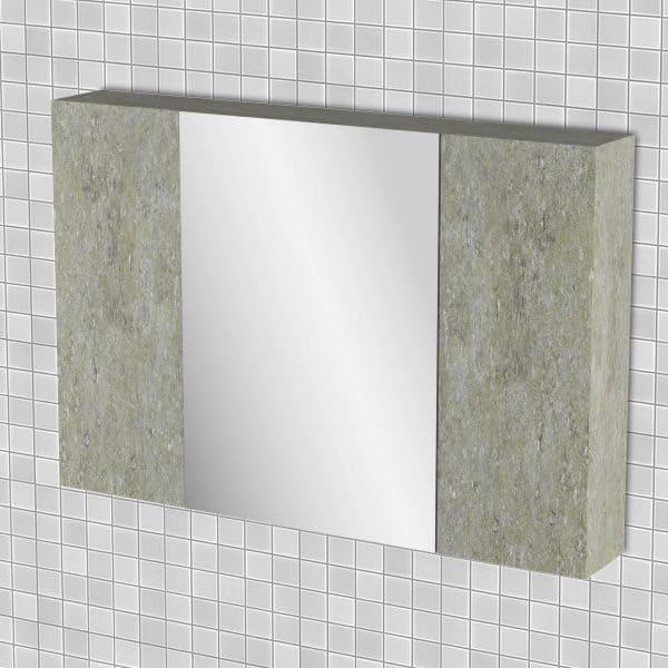Κρεμαστός Καθρέπτης Μπάνιου Arlene με 3 ντουλάπια 96*14*65cm