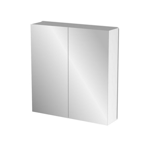 Κρεμαστός Καθρέπτης Μπάνιου Bianca με 2 ντουλάπια 71*14*65cm