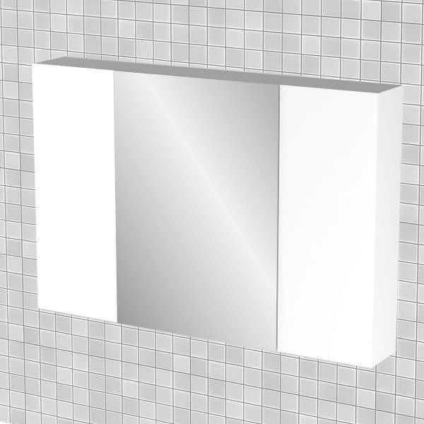 Κρεμαστός Καθρέπτης Μπάνιου Bianca  με 3 ντουλάπια 96*14*65cm