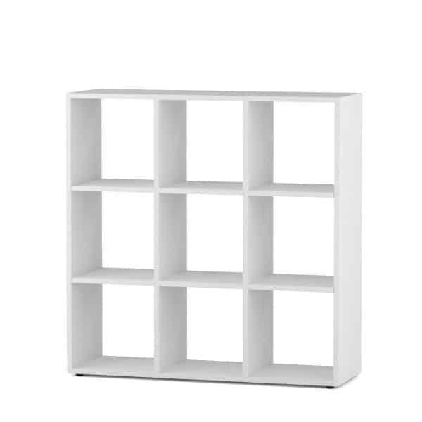 Βιβλιοθήκη BEN SHELF 3X3 90*30*93cm Λευκό