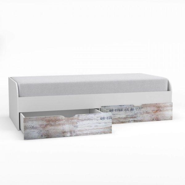 Pump Κρεβάτι Μονό Με Τάβλες Λευκό 90x200cm PUMPBED2S