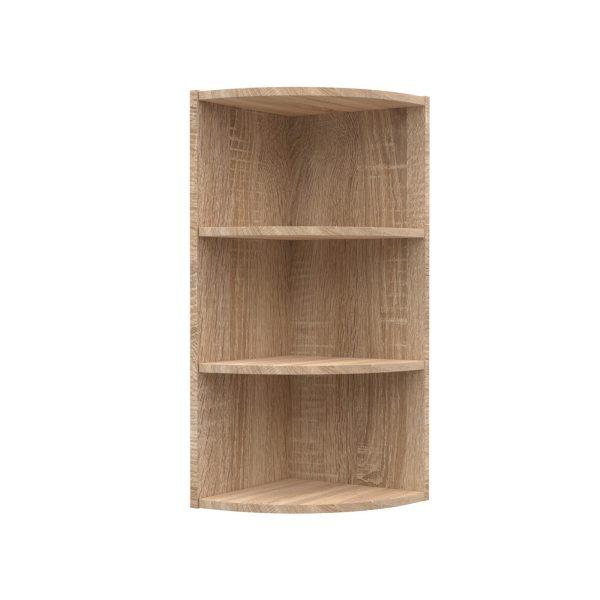 Alina Γωνιακό πάνω ντουλάπι με ράφια 28,5x28,5x71,8εκ Sonoma-Μόκκα SO-AV30K3
