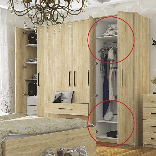 Εσωτερικά ράφια ντουλάπας 2 τεμάχια 50x57x1.6εκ SO-GREENRAFI