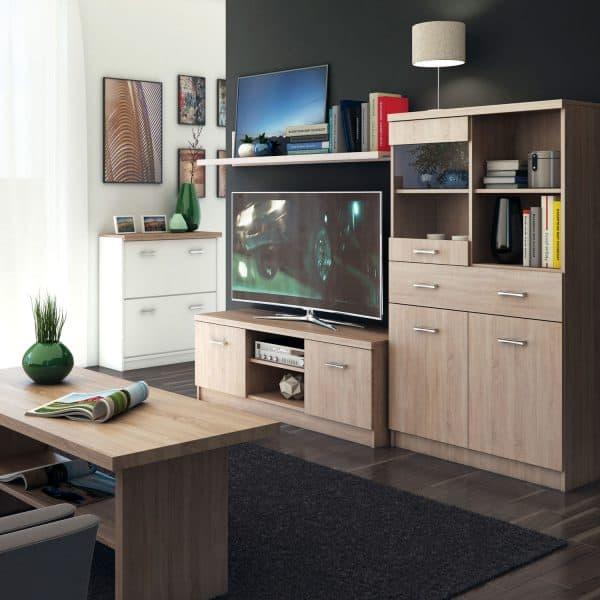 Έπιπλο TV 120x42x46εκ Sonoma Με Δύο Ντουλάπια TO-2DTV
