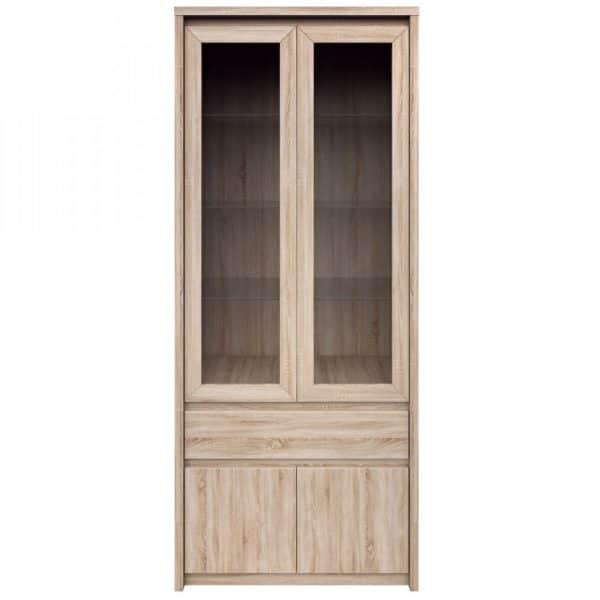 Βιτρίνα Norton Δίφυλλη 88x40x210εκ Σονόμα Δύο πόρτες