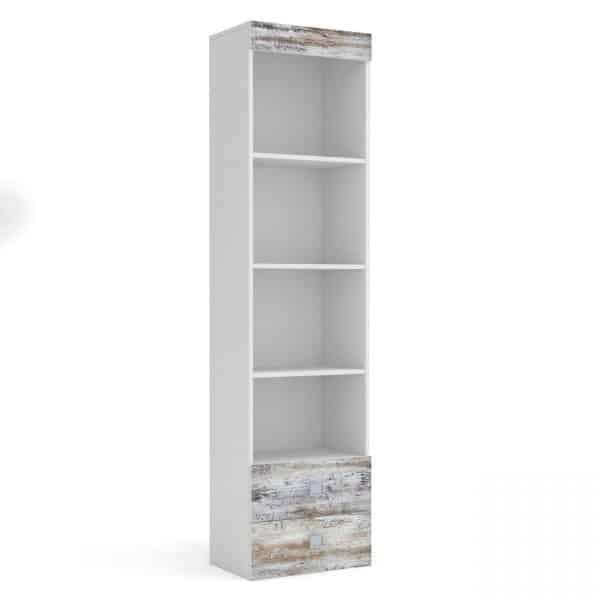 Pump Βιβλιοθήκη 50x34x198cm Λευκή TO-PUMPSHE2S
